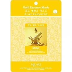 Mijin MJCare Gold Essence Mask Маска тканевая с золотом 23г
