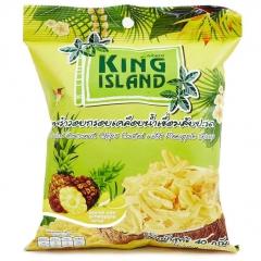 King Island Кокосовые чипсы со вкусом ананаса 40г