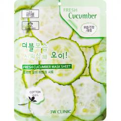 3W Clinic Fresh Cucumber Mask Sheet Тканевая маска для лица с экстрактом огурца 23мл