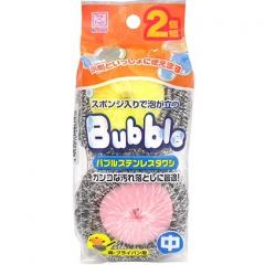 Kokubo Набор кухонных губок со стальной спиралью в сеточке 2шт