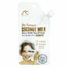 Dr.Smart Coconut Milk Glossy White Peel-Off Mask Маска-пленка с кокосовым молоком 25мл