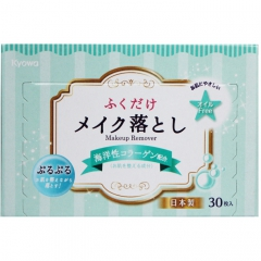 Kyowa Kyowa Влажные салфетки для снятия макияжа с морским коллагеном 30шт