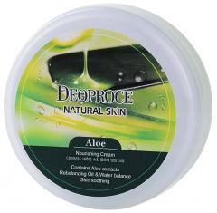 Deoproce Natural Skin Aloe Nourishing Cream Крем для лица и тела на основе экстракта сока алое 100г