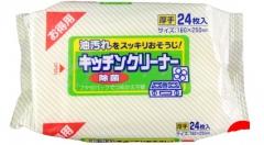Showa Siko Kitchen cleaner Влажные салфетки для удаления жировых загрязнений на кухне 24шт