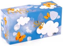 Gotaiyo Sky Двухслойные салфетки с ароматом ментола 250шт