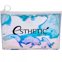 Esthetic House Holographic Cosmetic Bag Прозрачная голографическая косметичка-хамелеон 24х15х7см