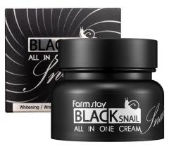 Farmstay Black Snail All In One Cream Крем для лица с муцином черной улитки 100мл
