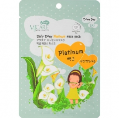 Mijin MJ Care Daily Dewy Platinum Mask Pack Маска тканевая с платиной 25г
