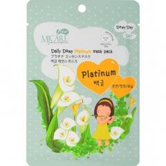 Mijin MJ Care Daily Dewy Platinum Mask Pack Маска тканевая с платиной 25г
