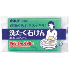 Kaneyo 98% жирных кислот Мыло хозяйственное для удаления загрязнений с воротников и манжет 190г