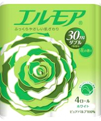 Kami Shodji Ellemoi Ароматизированная двухслойная туалетная бумага 30м*4шт