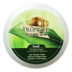 Deoproce Natural Skin Snail Nourishing Cream Крем для лица и тела с улиточным экстрактом 100г