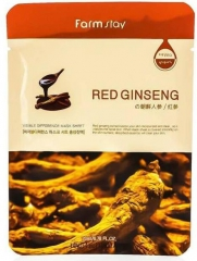 Farmstay Red Ginseng Тканевая маска для лица с экстрактом красного женьшеня 23мл