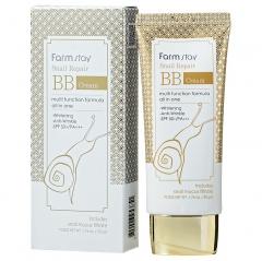 Farmstay Snail Repair BB Cream Восстанавливающий ББ-крем с муцином улитки SPF50+ PA+++ 50мл