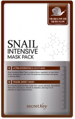 Secret Key Snail Intensive Mask Pack Тканевая маска для лица с муцином улитки 1шт