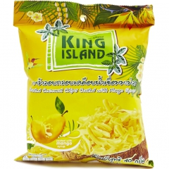 King Island Roasted Coconut Chips Coated With Mango Syrup Чипсы кокосовые со вкусом манго 40г
