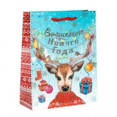 GiftPack Волшебства! Пакет ламинат вертикальный с тиснением, 12х15х5.5см