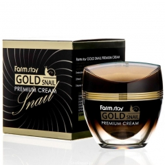 Farmstay Gold Snail Premium Cream Премиальный крем с золотом и муцином улитки 50мл