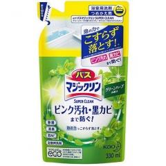 KAO Magiclean Моющее средство для ванной комнаты с ароматом зелени (рефил) 330мл