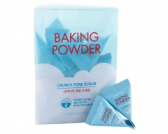 Etude House Baking Powder Crunch Pore Scrub Скраб для лица с содой в пирамидках 24шт
