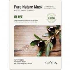 Anskin Secriss Pure Nature Mask Pack Olive Тканевая маска для лица с оливой 25мл