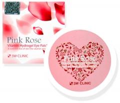 3W Clinic Pink Rose Vitamin Hydrogel Eye Patch Витаминные гидрогелевые патчи для глаз 60шт