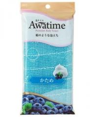 Ohe Corporation Awa Time Body Towel Normal Blue Мочалка для тела 22х100см (средней жесткости) 1шт