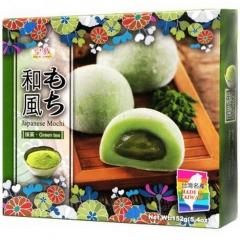 Royal Family Green Tea Japanese Mochi Рисовые пирожные моти со вкусом чая матча 152г