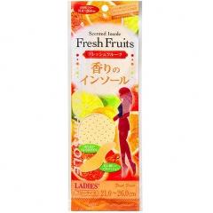 Fudo Kagaku Женские дышащие стельки с ароматом фруктов 21-26см 1пара