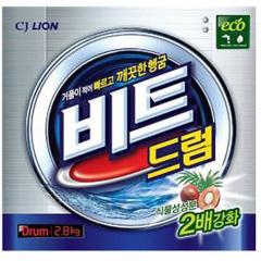 CJ Lion Beat Drum Порошок-автомат с пальмовым экстрактом для белых и цветных вещей 2.8кг