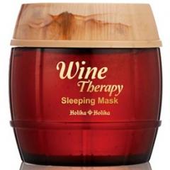 Holika Holika Wine Therapy Sleeping Mask Pack Антивозрастная ночная маска с красным вином 120мл
