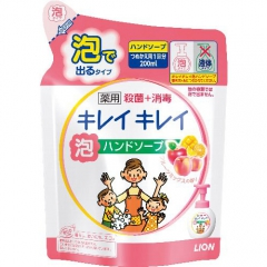 Lion Kirei Kirei Пенное мыло для рук с ароматом апельсина (рефил) 200мл