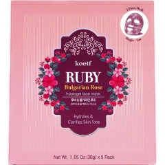 Petitfee Koelf Ruby&Bulgarian Rose Mask Pack Гидрогелевая маска с рубиновой пудрой и розой 30г