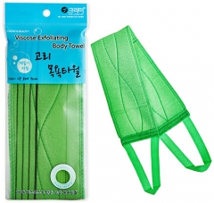 Sungbo Viscose Ring Bath Towel Мочалка для душа с ручками 80х90см (жесткая) 1шт