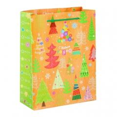 GiftPack Чудесные ёлочки Пакет ламинат вертикальный, 11х14х5см