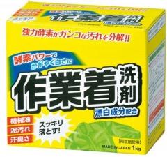 Cтиральный порошок Mitsuei с отбеливателем и ферментами для сильных загрязнений 1кг