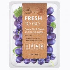Tony Moly Fresh To Go Grape Mask Sheet Маска для лица с виноградом 22г