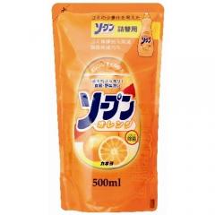 Kaneyo Сладкий апельсин Средство для мытья посуды, овощей и фруктов (рефил) 500мл