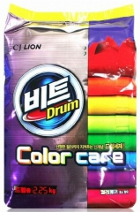 Стиральный порошо кCJ Lion Beat Drum Color для цветного белья Защита цвета 2250г