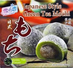 Daifuku Yuki & Love Japanese Style Green Tea Mochi Рисовые пирожные моти с чаем матча 140г