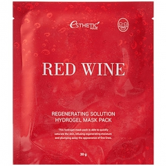 Esthetic House Red Wine Regenerating Solution Hydrogel Mask Pack Гидрогелевая маска с вином 1шт