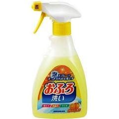 Nihon Foam spray Bathing wash Чистящая спрей-пенка для ванны с апельсиновым маслом 400мл