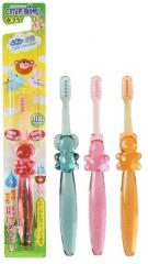 Kawanishi «Crystal animals – веселые зверушки» Зубная щетка для детей 1.5-6 лет (средней жесткости)
