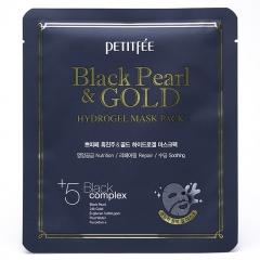 Petitfee Black Pearl & Gold Hydrogel Mask Pack Гидрогелевая маска для лица с жемчугом 30мл
