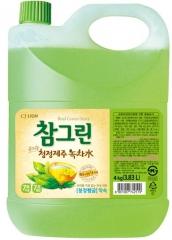 CJ Lion Chamgreen Green Tea Средство для мытья посуды и овощей с ароматом зеленого чая 3830мл