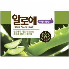 Mukunghwa Fresh Aloe Soap Косметическое мыло с экстрактом алое 100г
