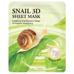 Missha Healing Snail 3D Sheet Mask Маска для лица с муцином улитки 21г