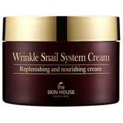 The Skin House Wrinkle Snail System Cream Антивозрастной крем на основе муцина улитки 100мл