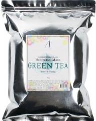 Anskin Green Tea Modeling Mask Успокаивающая альгинатная маска с экстрактом зеленого чая (рефил) 1кг
