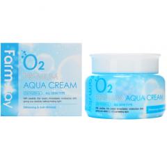Farmstay O2 Premium Aqua Cream Увлажняющий крем с кислородом 100г